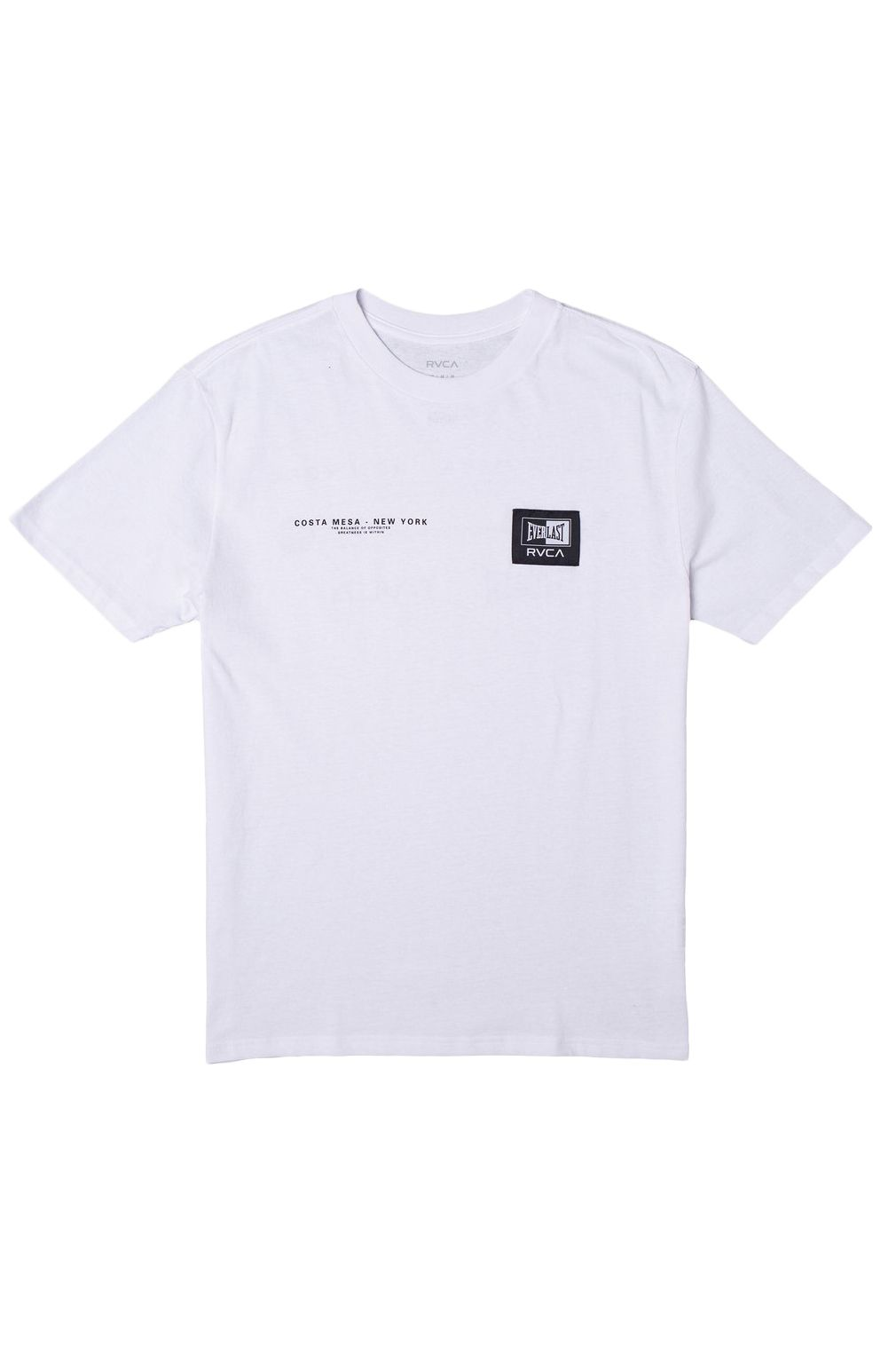 T-Shirt RVCA EVERLAST CM NY White