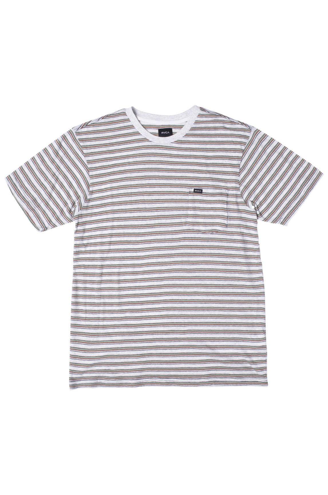 T-Shirt RVCA TOLUCA MICRO STRIPE Snow Marle