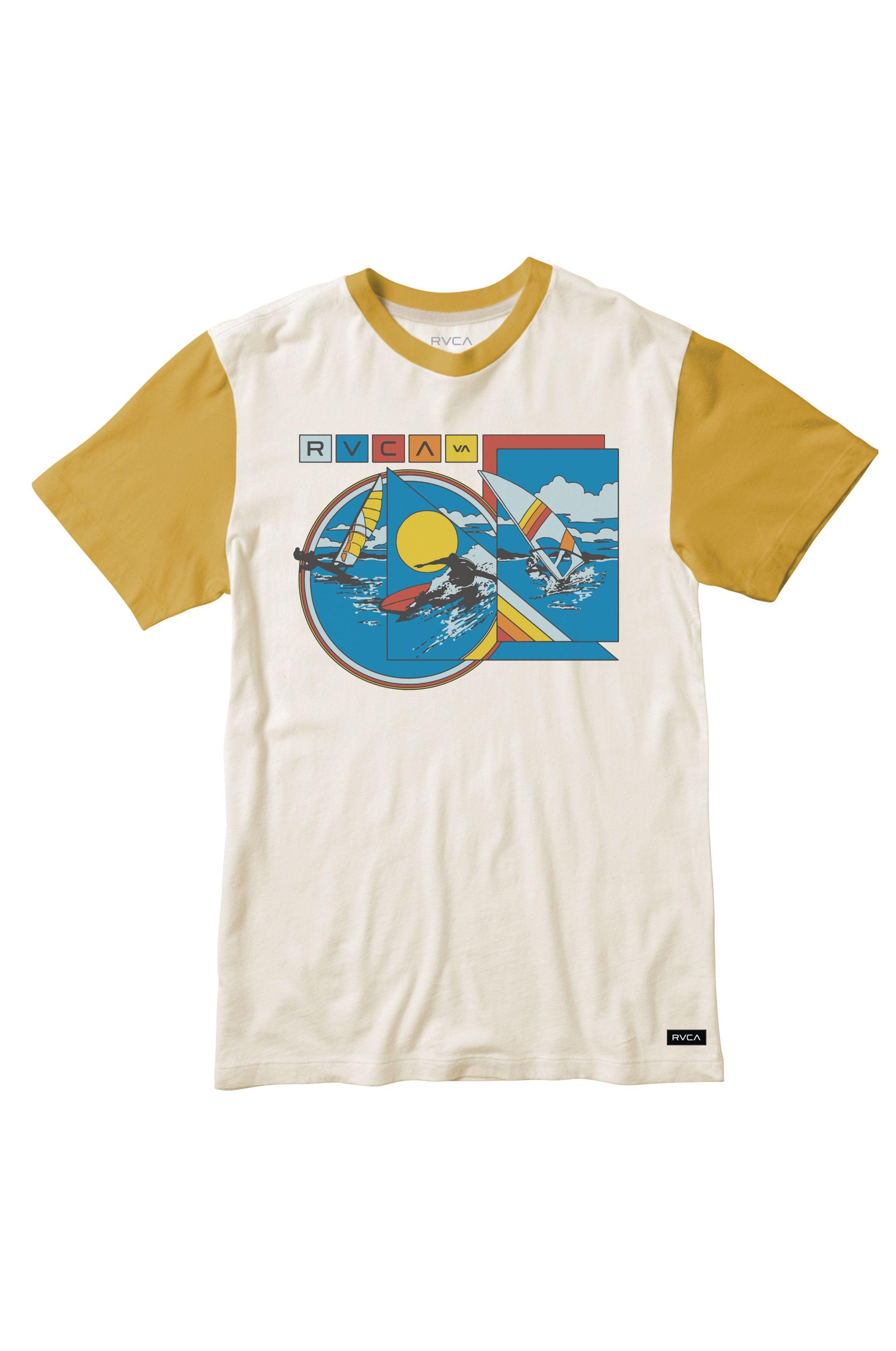 T-Shirt RVCA EVAN MOCK TOURIST BL EVAN MOCK Antique White