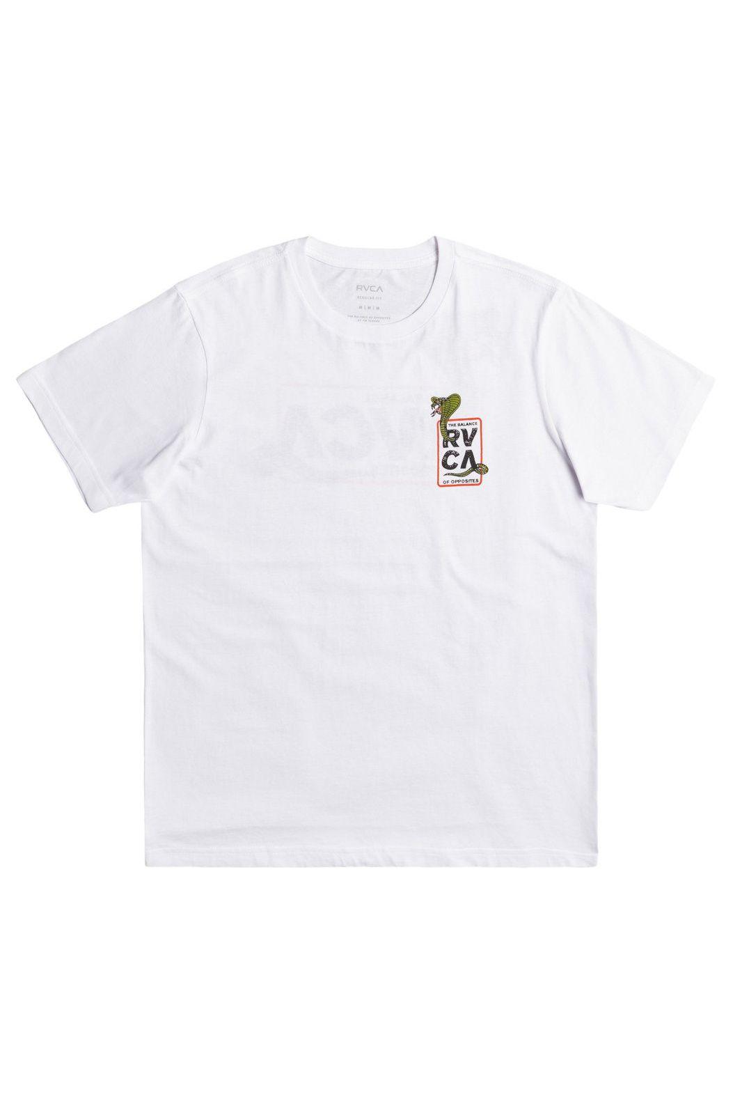 RVCA T-Shirt SNAKE EYES White