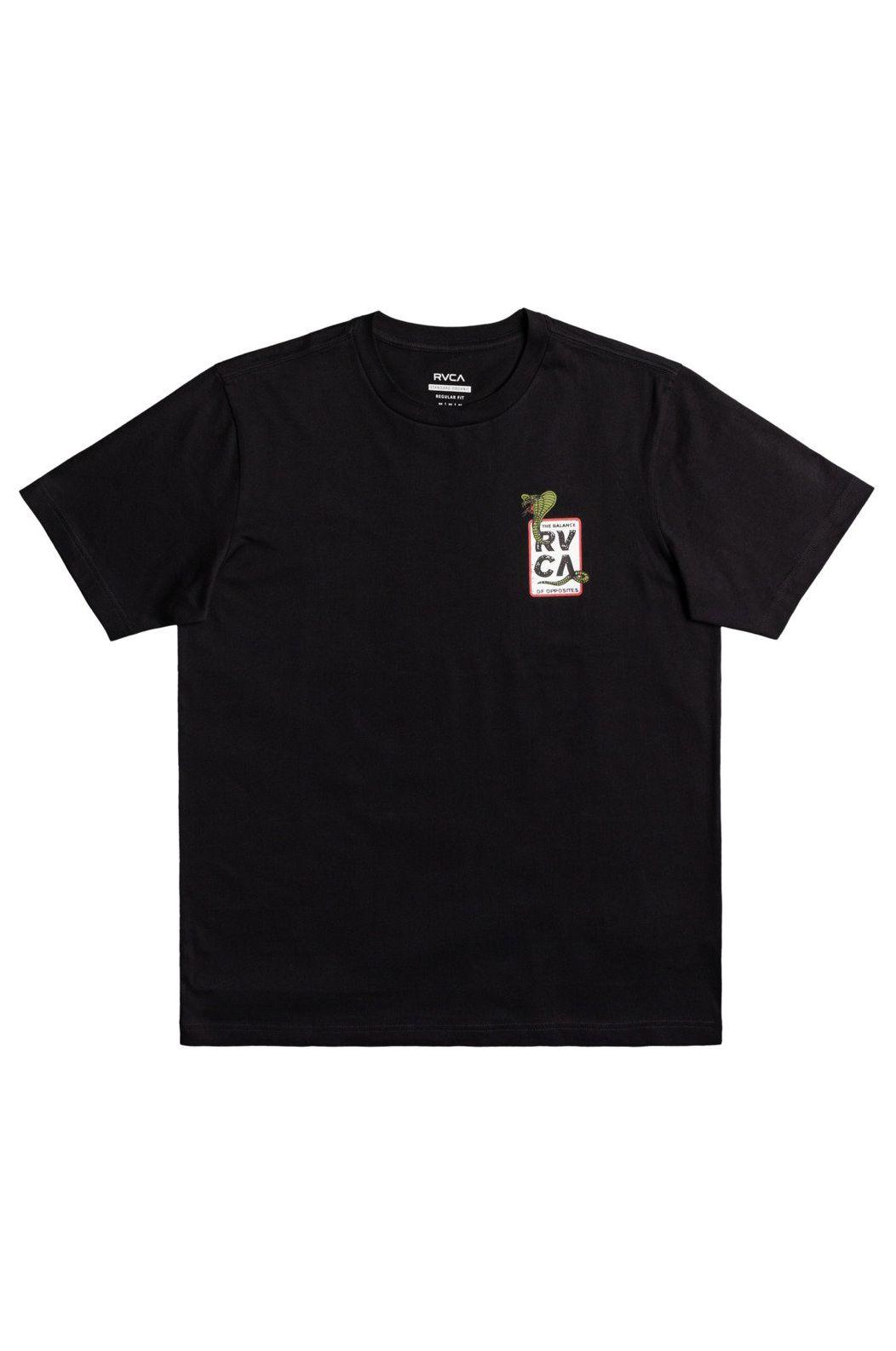 RVCA T-Shirt SNAKE EYES Black