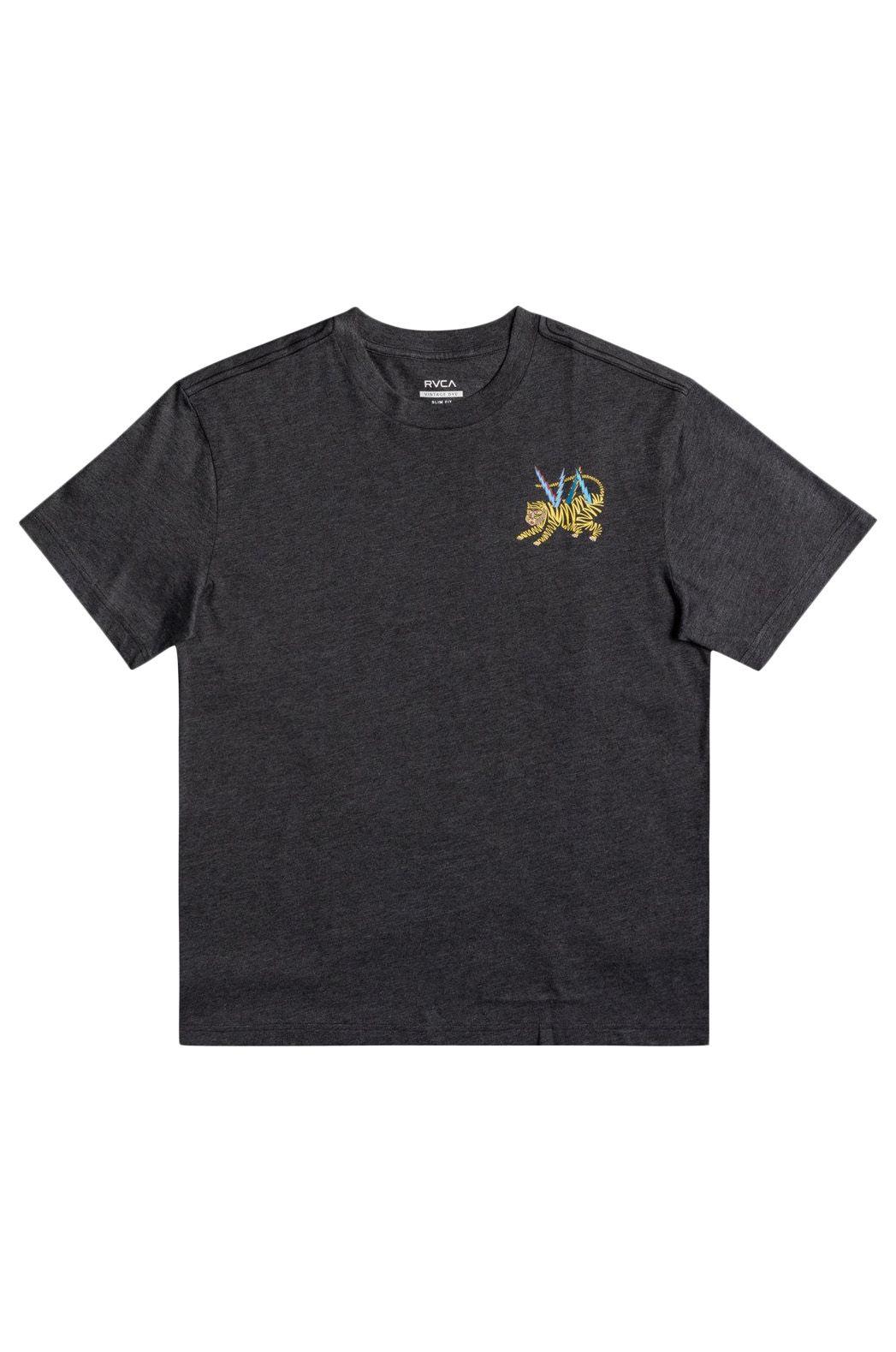 T-Shirt RVCA ML TIGER MATT LEINES Dark Charcoal