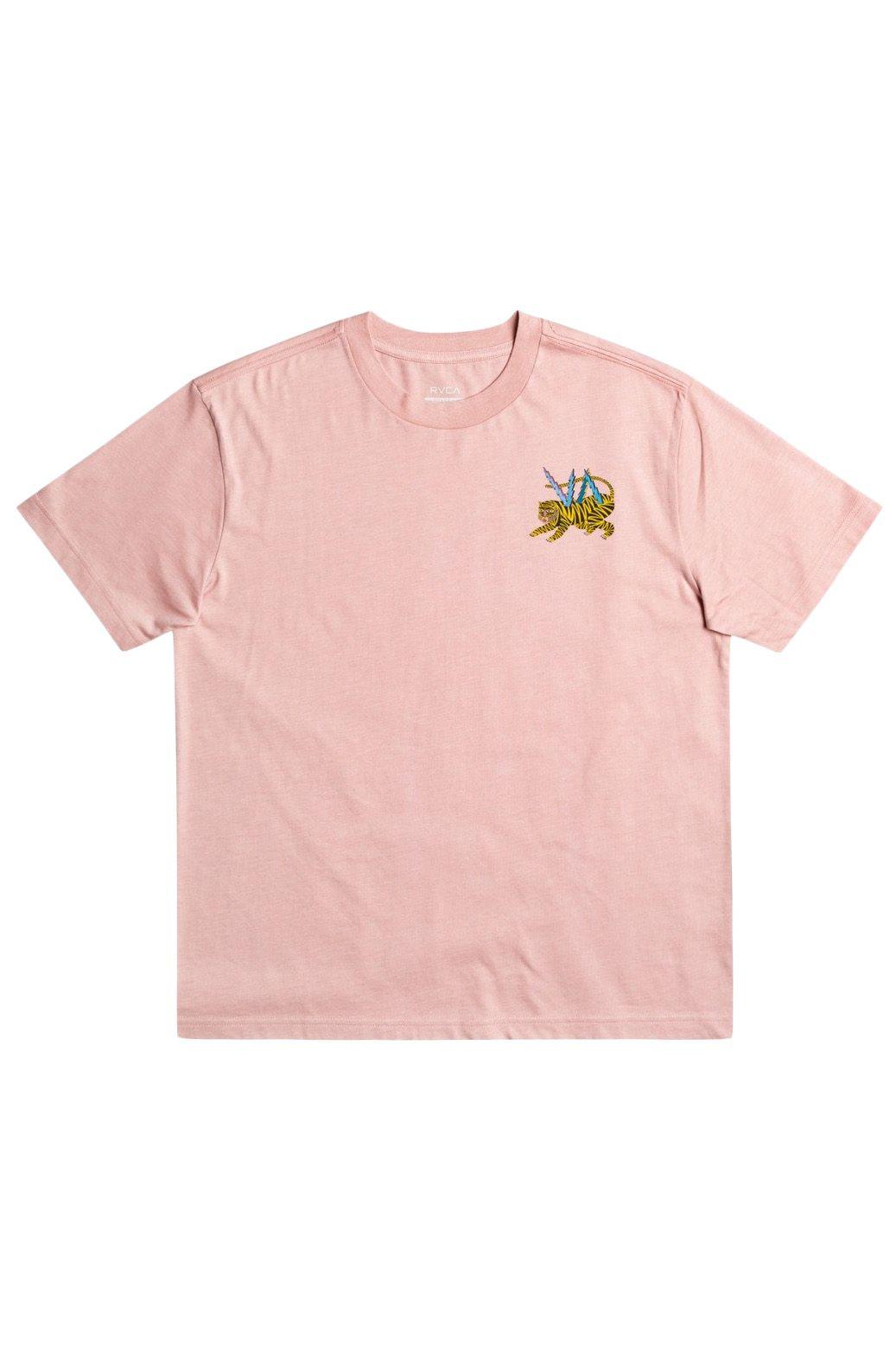 T-Shirt RVCA ML TIGER MATT LEINES Pale Mauve
