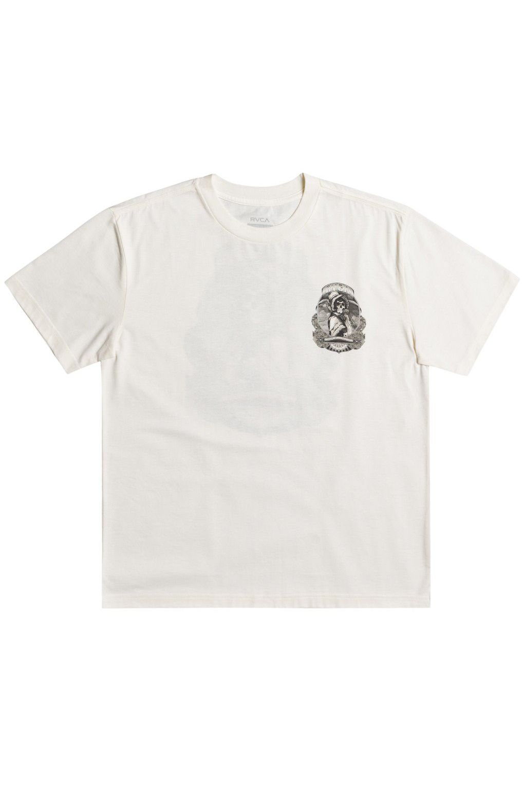RVCA T-Shirt SKULL BONNET GEORGE THOMPSON Antique White
