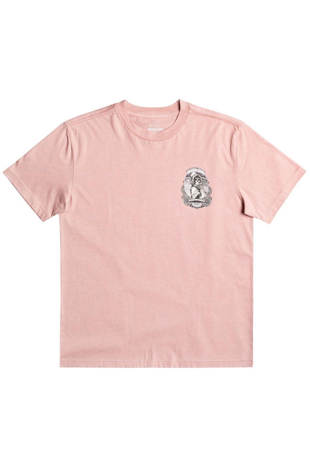 RVCA T-Shirt SKULL BONNET GEORGE THOMPSON Pale Mauve