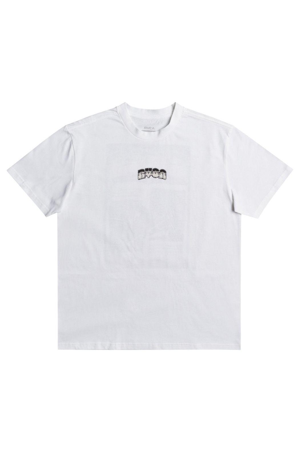 RVCA T-Shirt BATTLE MARTIN ANDER White