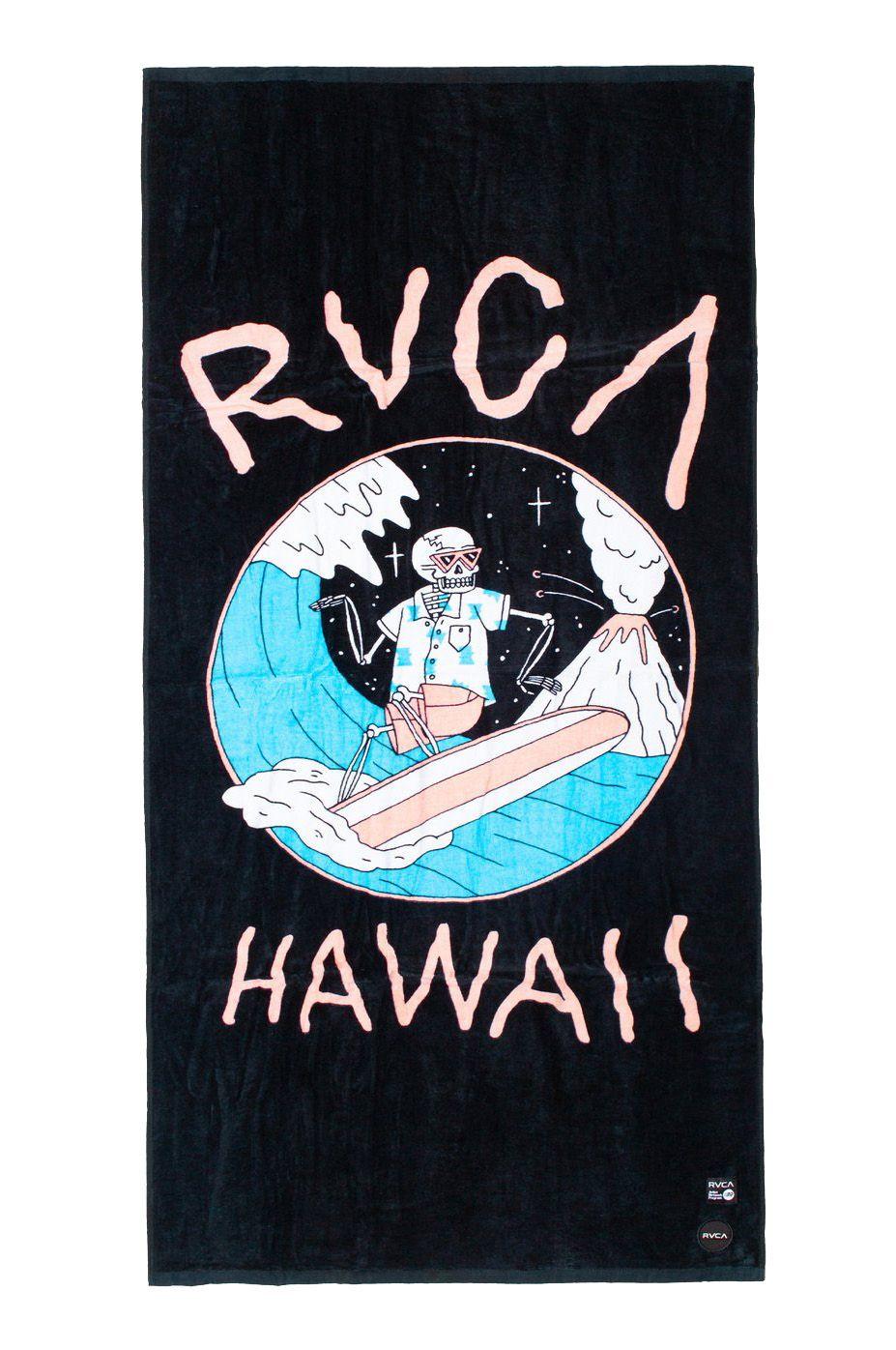 Toalha RVCA LUKE P SURF TOWEL LUKE PELLETIER Black