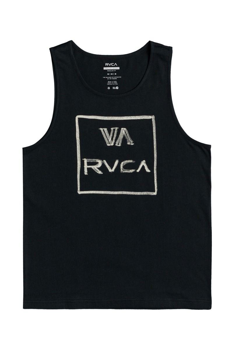 RVCA T-Shirt Tank Top DRY BRUSH TANK Pirate Black