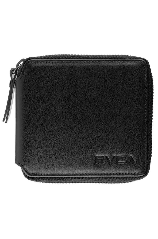 RVCA Leather Wallet ZIP AROUND WALLET Black