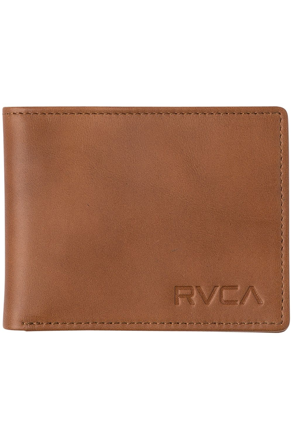 RVCA Leather Wallet CREST BIFOLD WALLET Tan