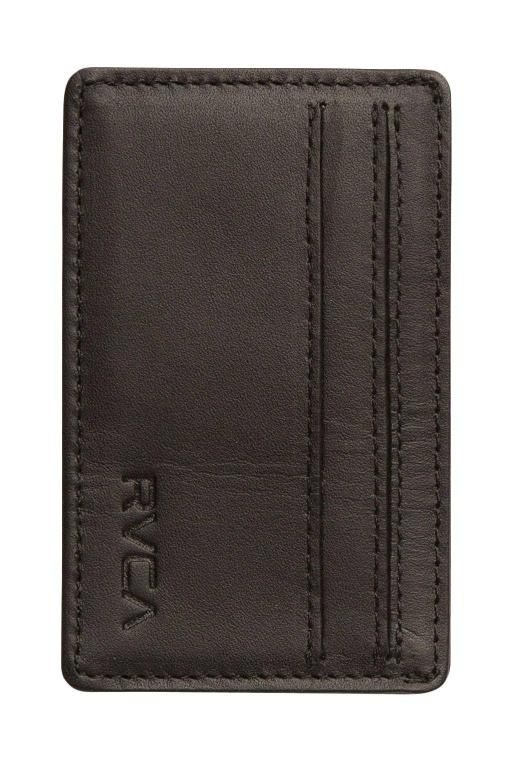 Carteira Pele RVCA CLEAN CARD WALLET Black