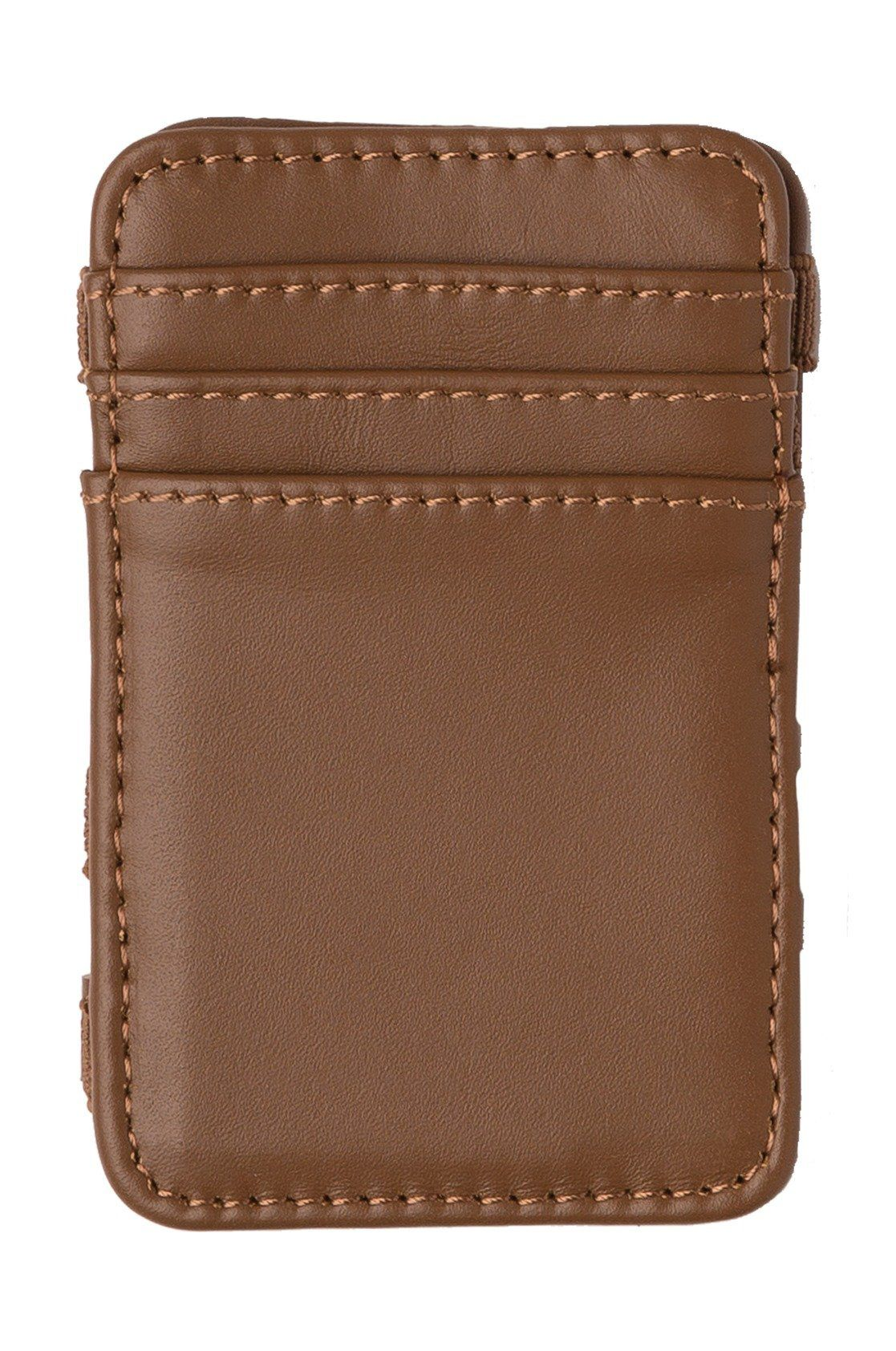 RVCA Leather Wallet LEATHER MAGIC WALLET Tan
