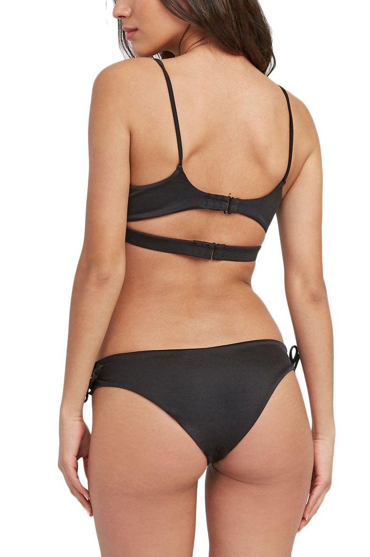 Bikini Top RVCA SOLID SHIMMER BANDEA Black