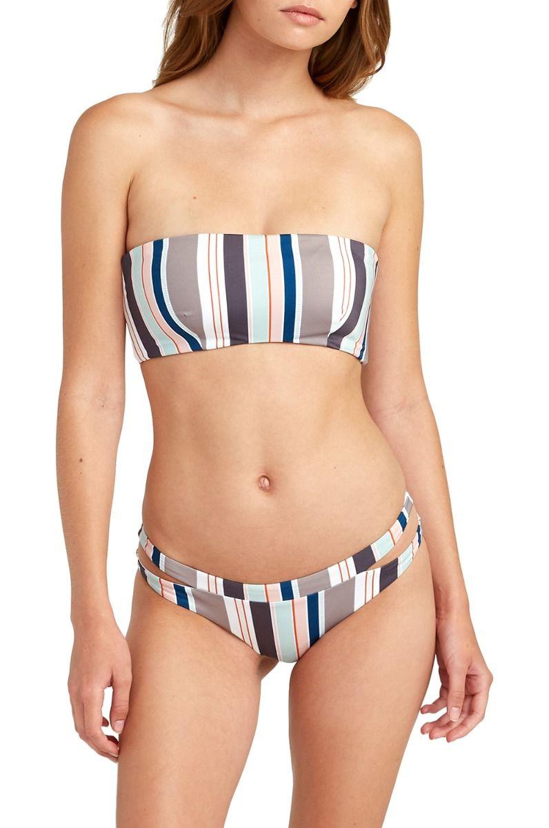 RVCA Bikini Bottom OFF SHORE STRIPE CHE TRENT WHITEHEAD Creme