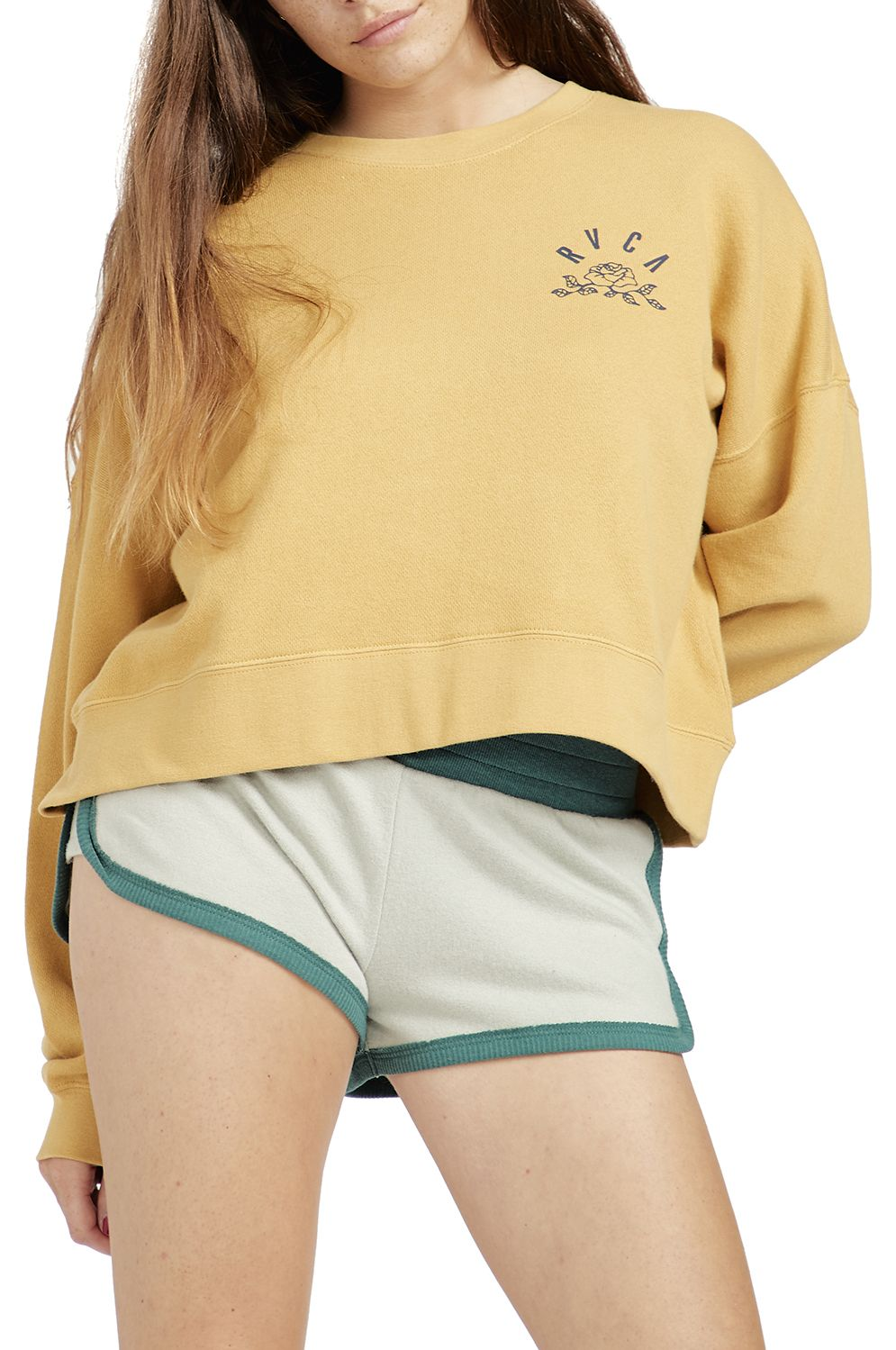 Sweat Basica RVCA ROSE STATE Camel