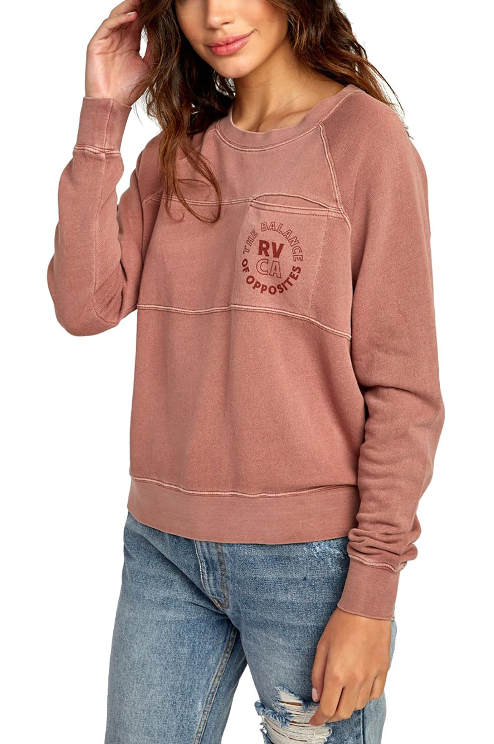 RVCA Crew Sweat SIAM Nutmeg