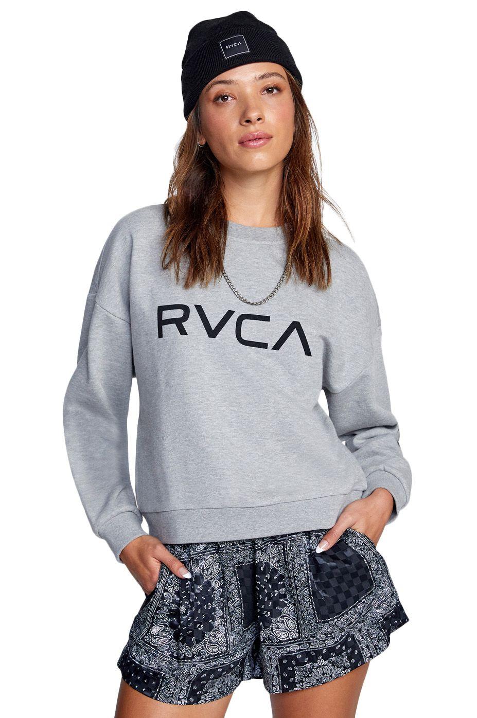 Sweat Basica RVCA BIG RVCA CREW Heather Grey