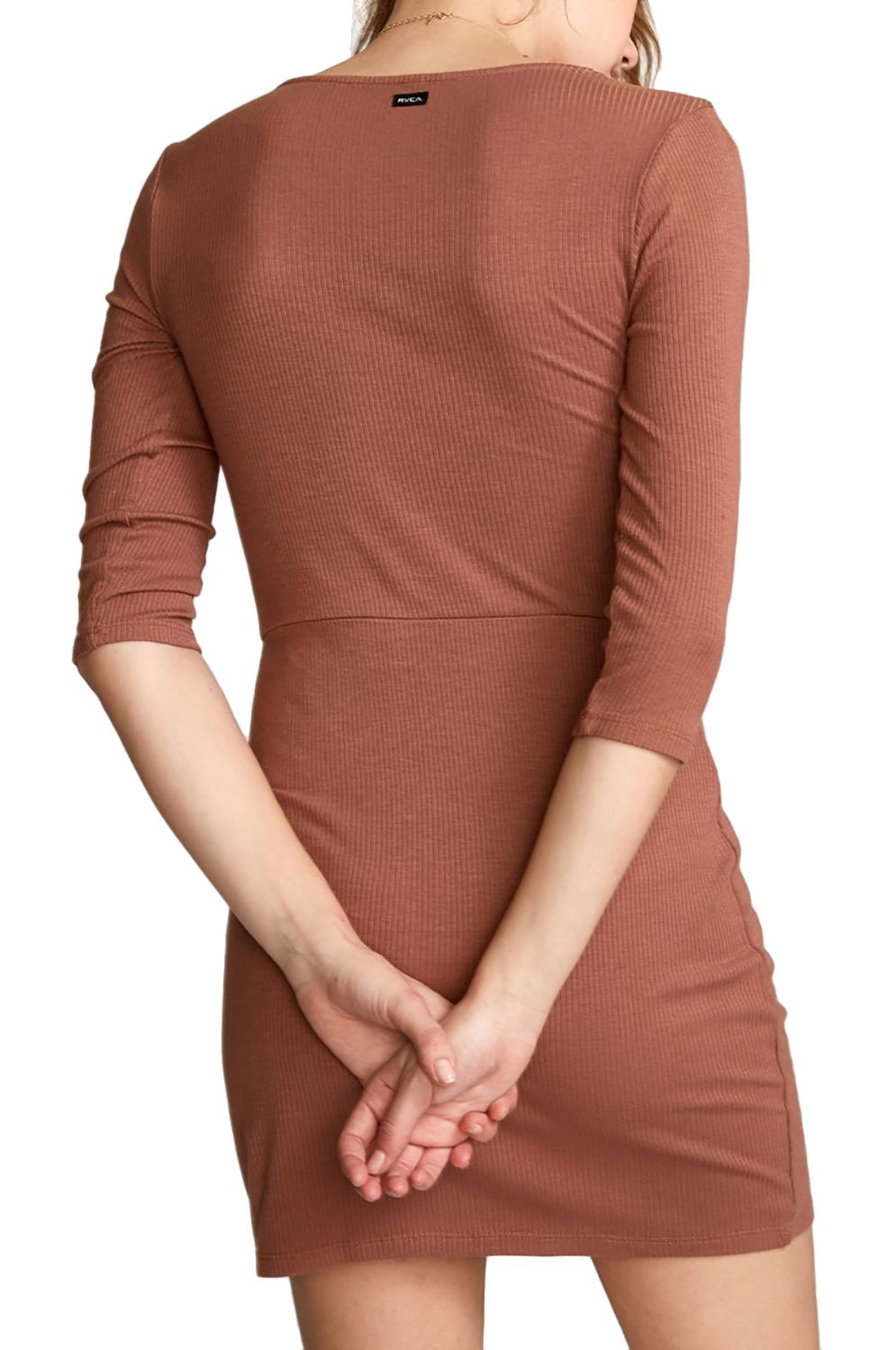 RVCA Dress TWISTER RIB Nutmeg
