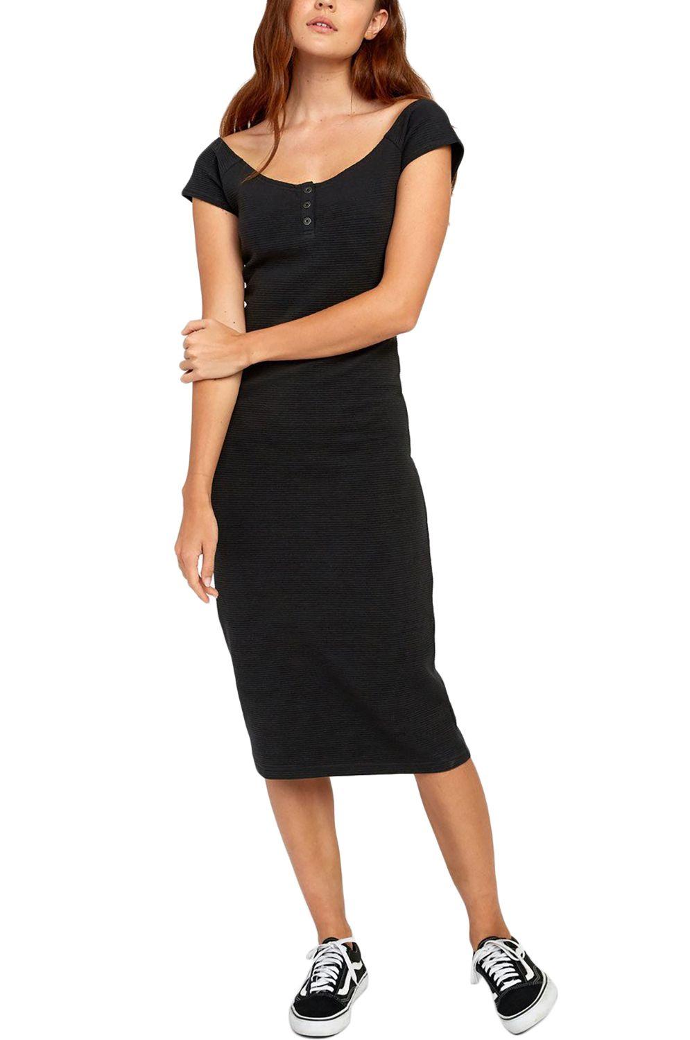 Vestido RVCA STRIPPED DOWN Black