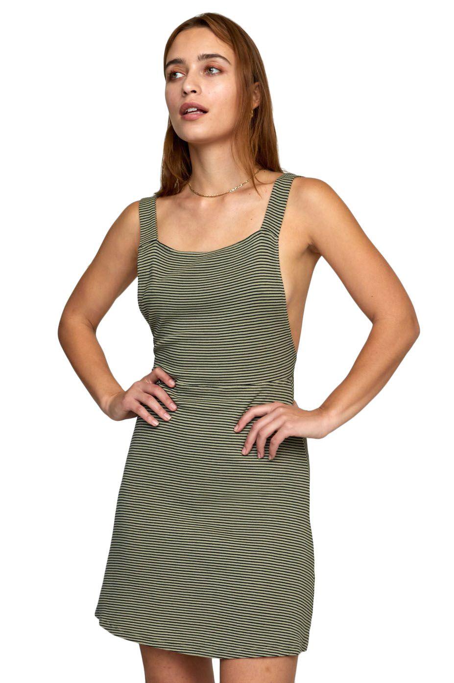 Vestido RVCA BRONWEN DRESS Khaki Sage