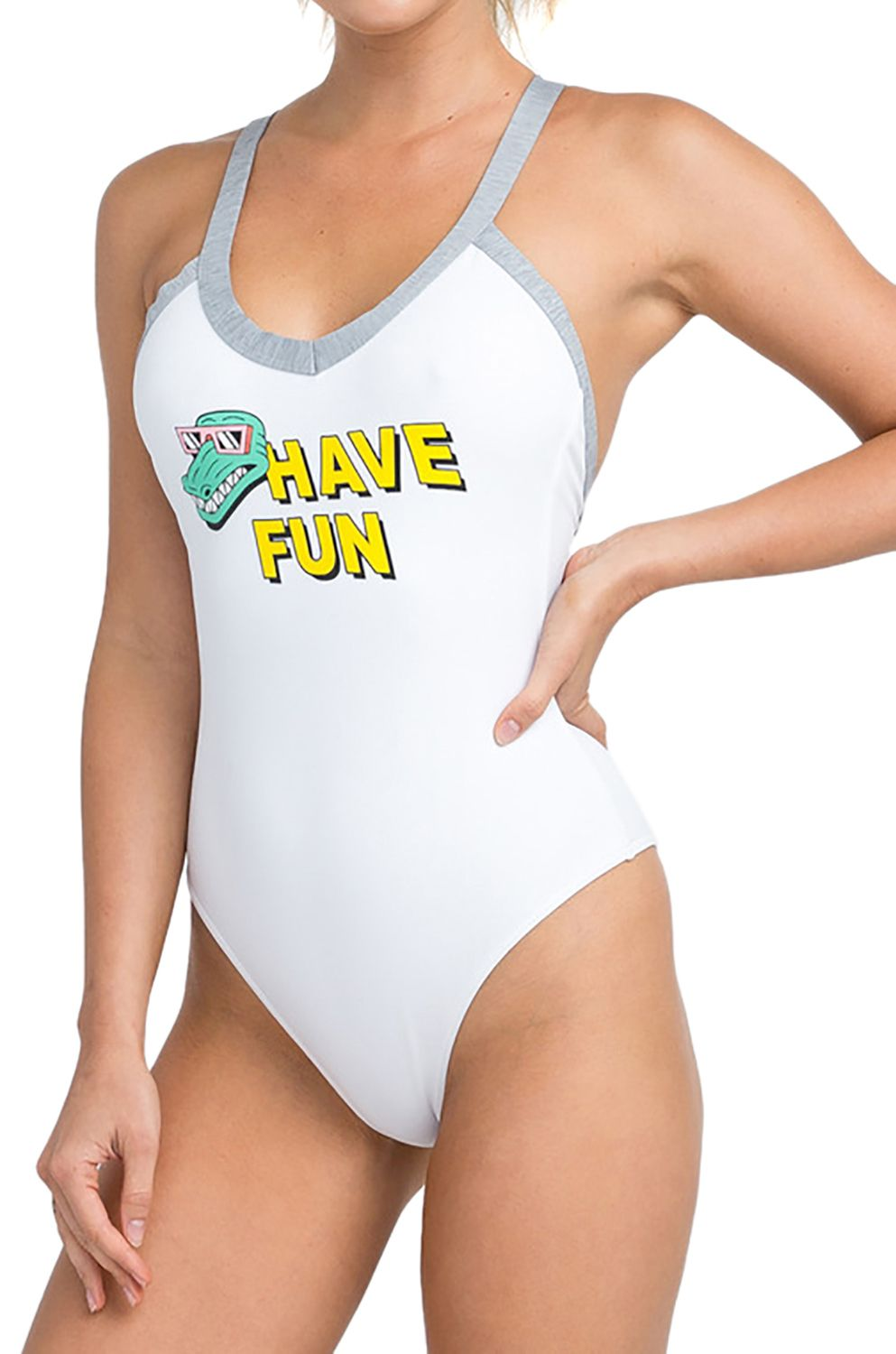 RVCA Swimsuit REAL TALK White