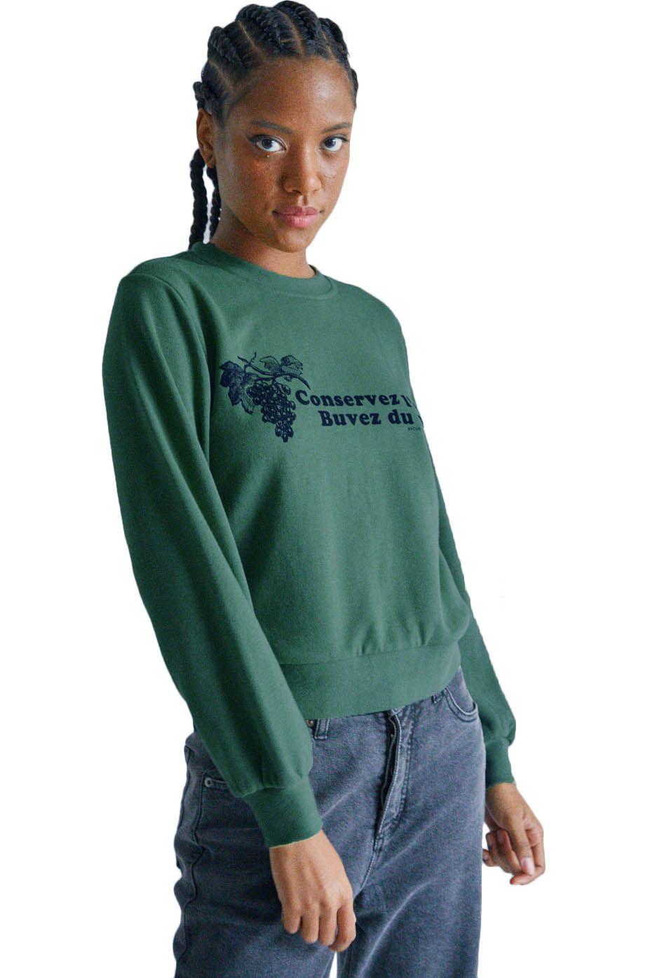 Sweat Basica RVCA CONSERVEZ LEAU FLEEC CAMILLE ROWE Green Moss