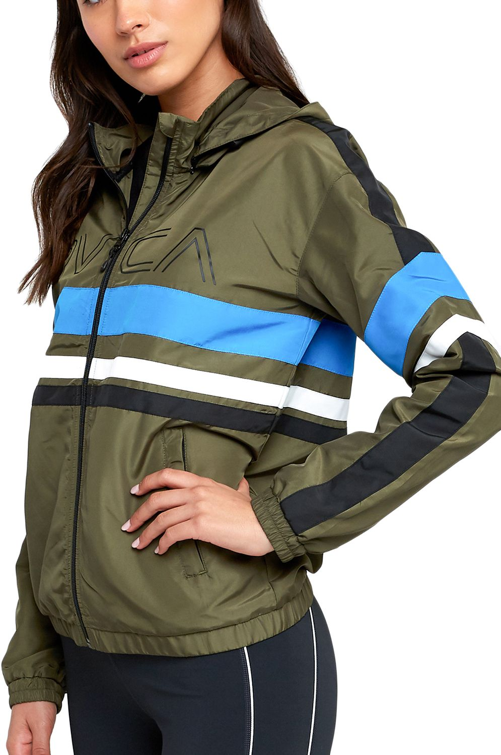 RVCA Jacket Wind Breaker TEAM VA SPORT Olive