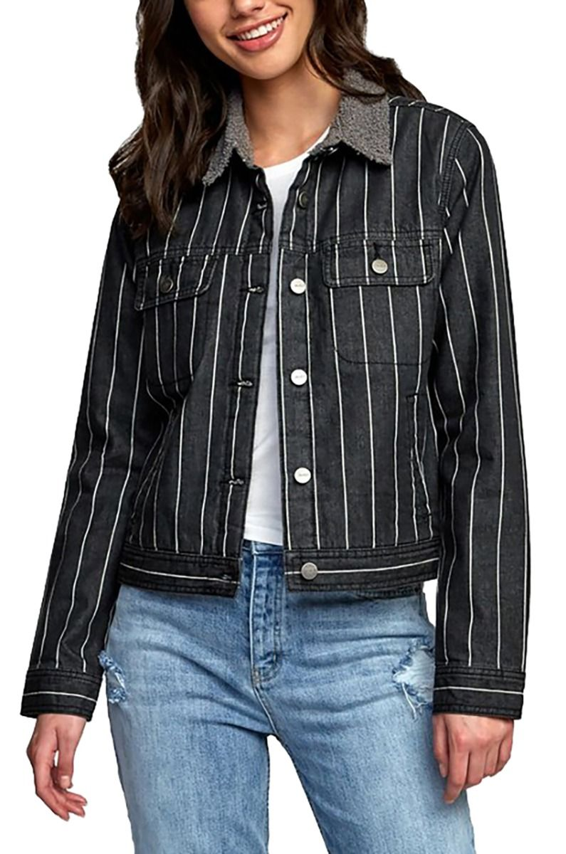 RVCA Jacket SPITTING IMAGE Black Stripe