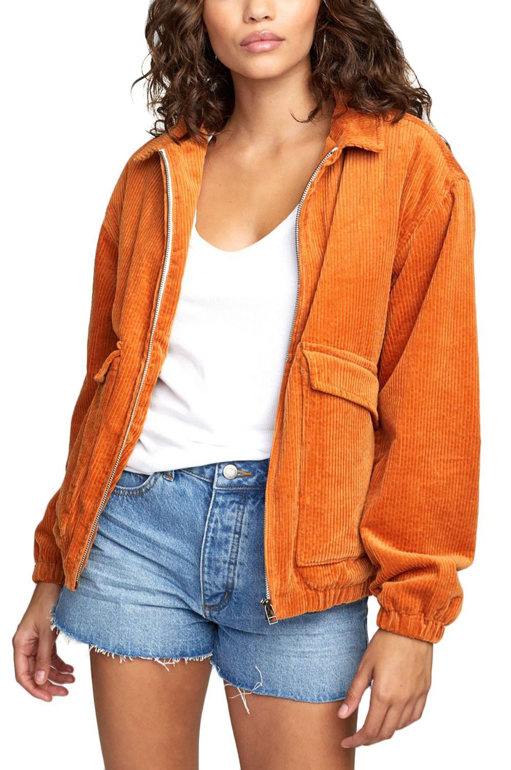 Blusão RVCA VIBER CORDUROY JACKE Dark Orange