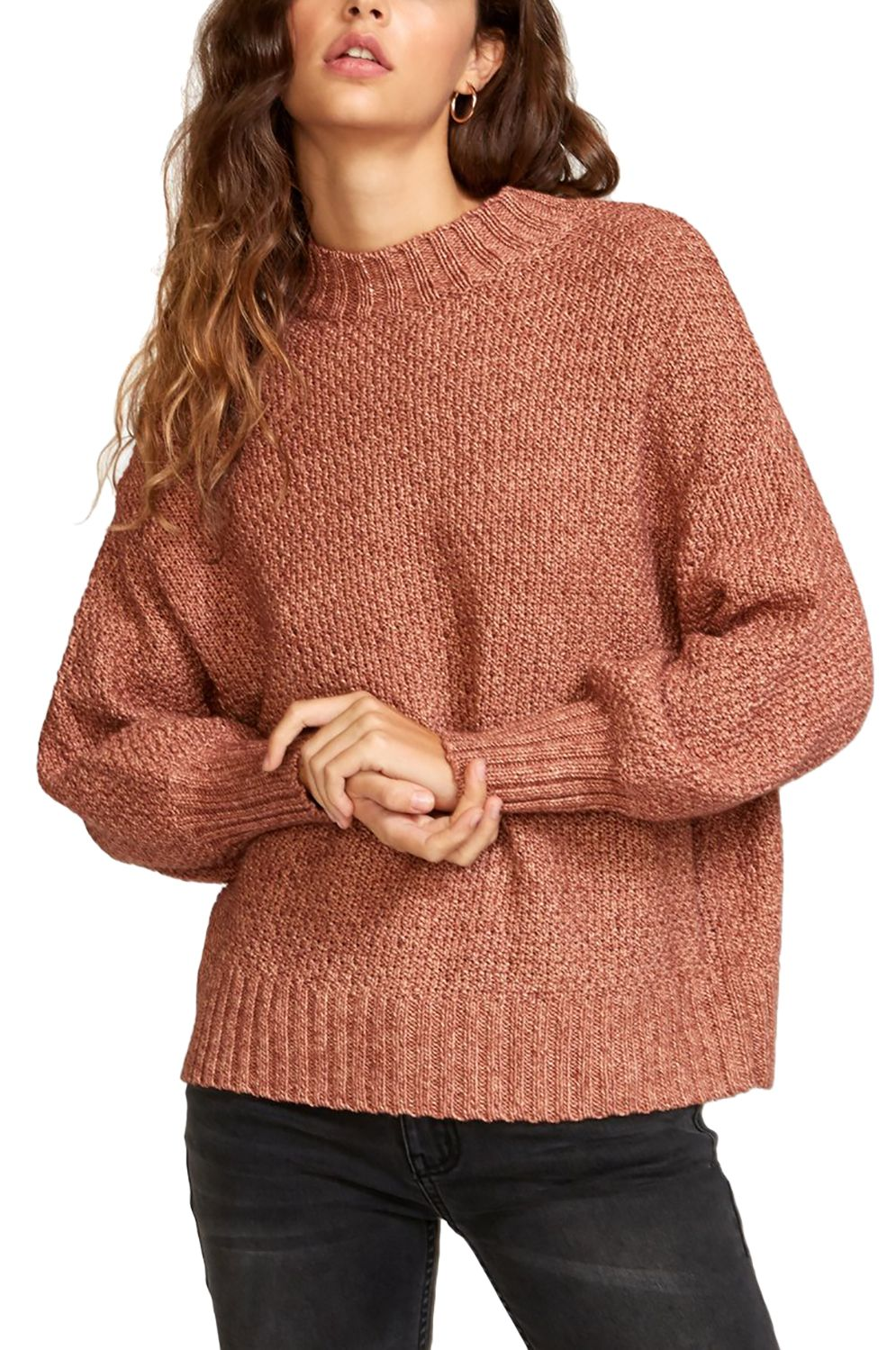 RVCA Sweater VOLT Nutmeg