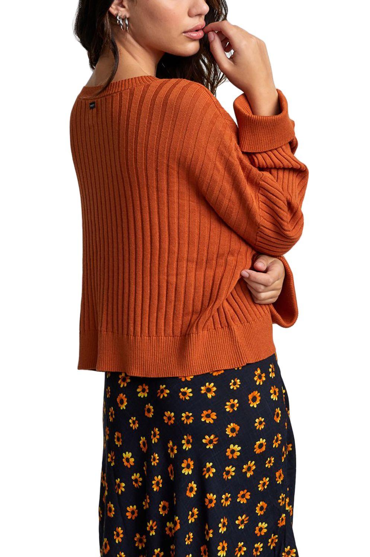 Camisola RVCA SYDNEY SWEATER Dark Orange