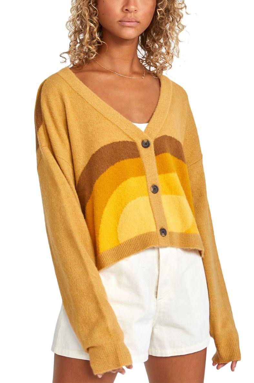 RVCA Sweater PIONEER DANA TRIPPE Mustard