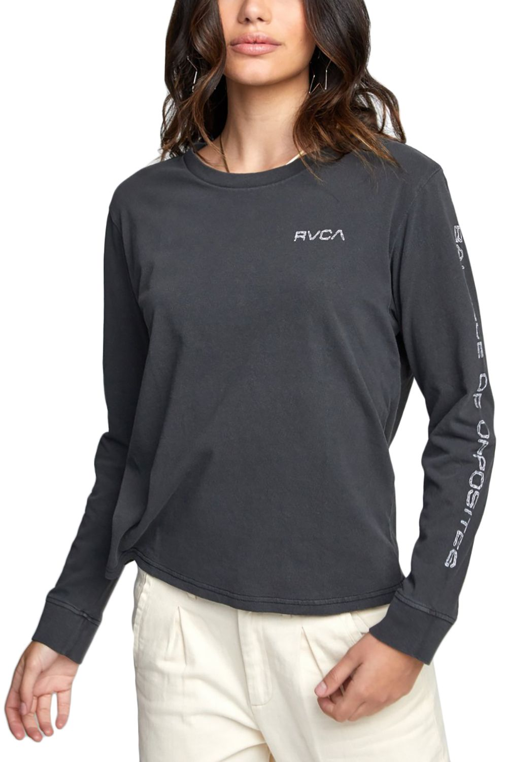 RVCA L-Sleeve CHAINED LS Washed Black