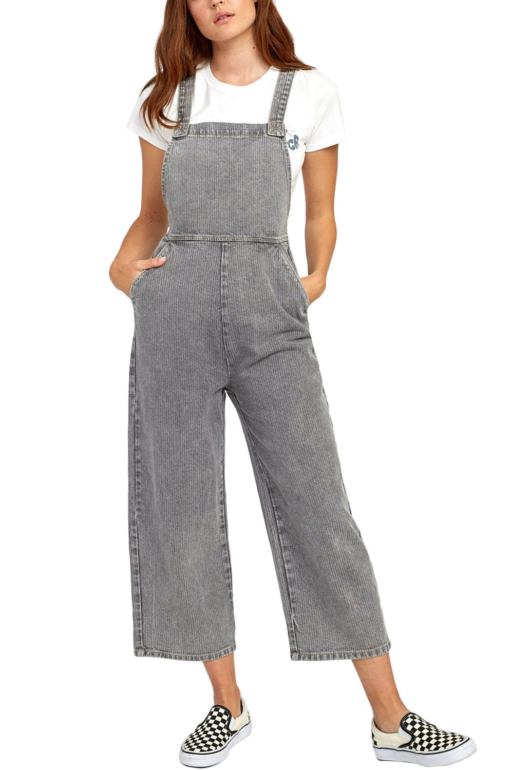 RVCA Jumpsuit CRYSTAL Grey Stripe