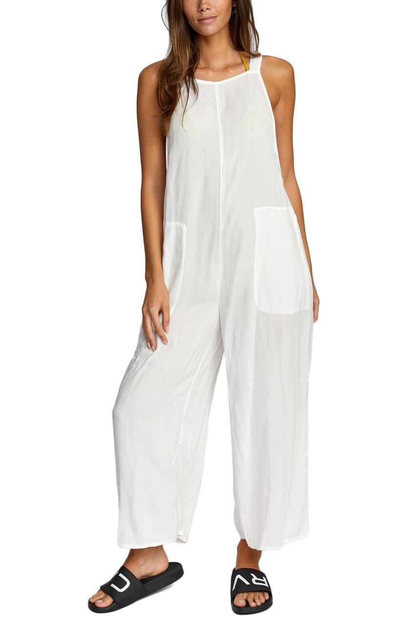 RVCA Jumpsuit EASY STREET White