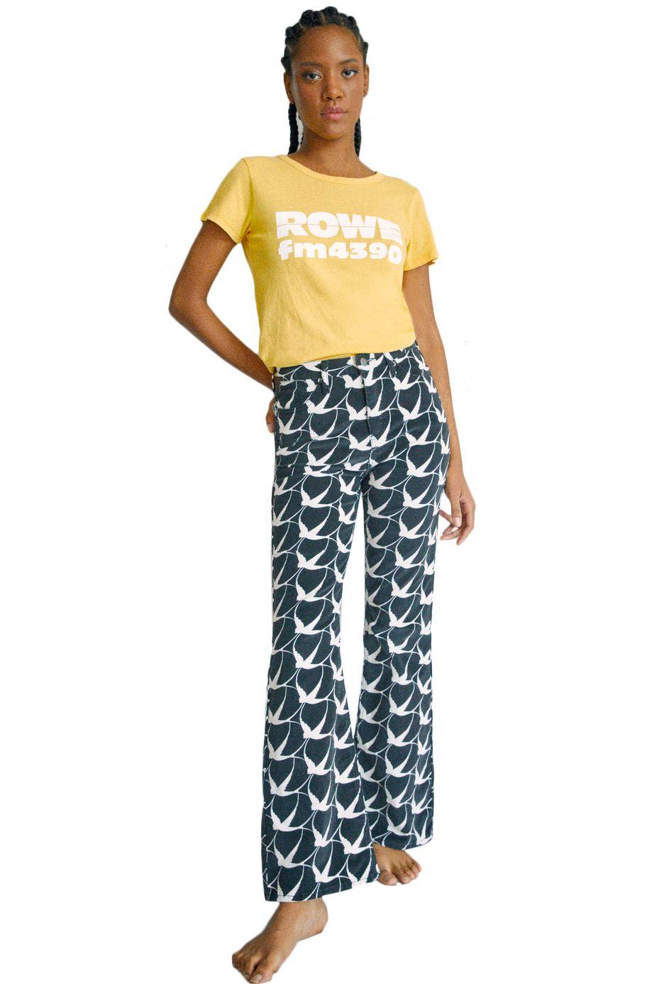 RVCA Pants LIVIN CORDUROY CAMILLE ROWE Black/White