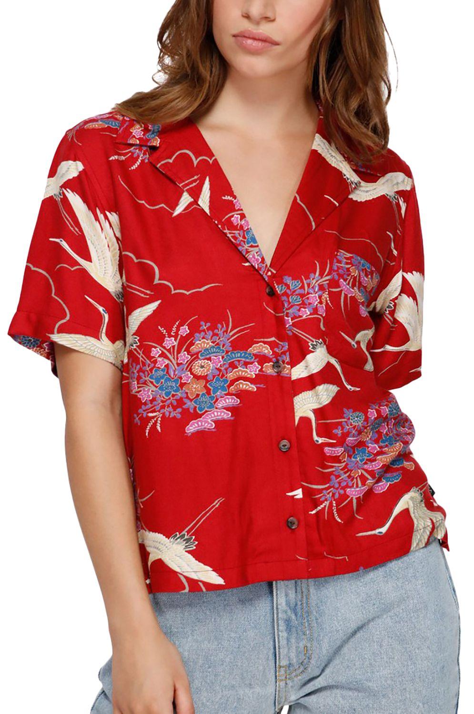Camisa RVCA CRANES SS Red