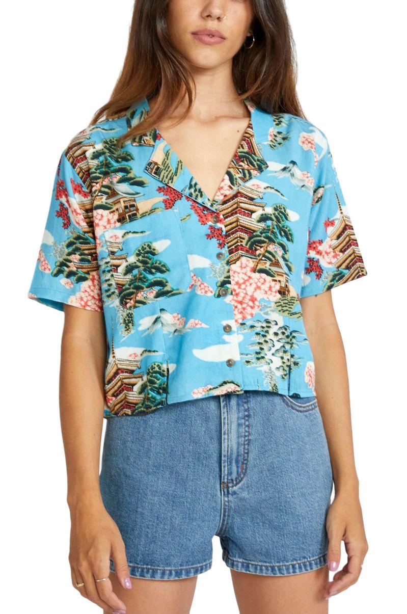 Camisa RVCA VACAY Horizon Blue