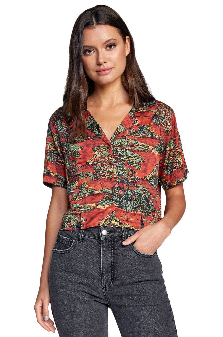 RVCA Shirt VACAY Rosewood