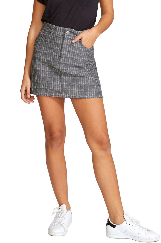 RVCA Skirt ROWDY MINI PLAID Grey