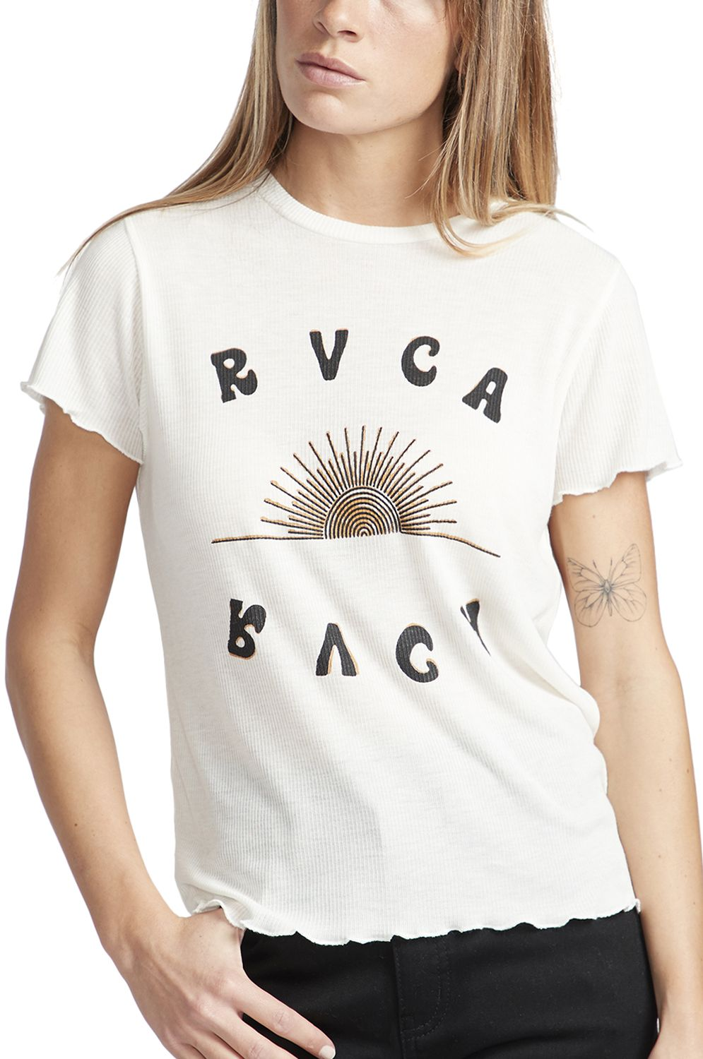 RVCA T-Shirt SUNSHIEN Antique White