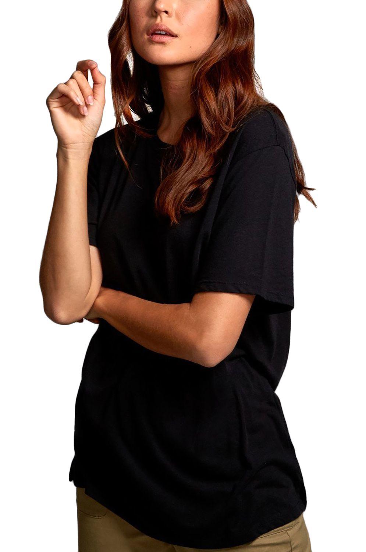 RVCA T-Shirt FACES JOHANNA OLK Black