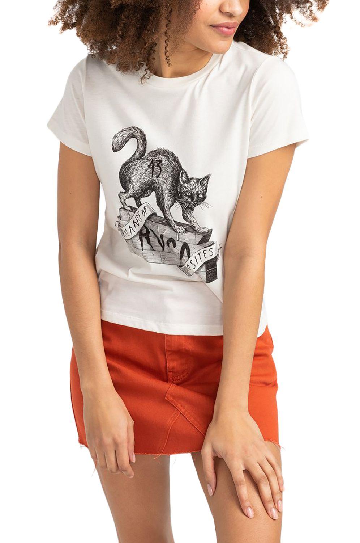 RVCA T-Shirt BENJAMIN Antique White
