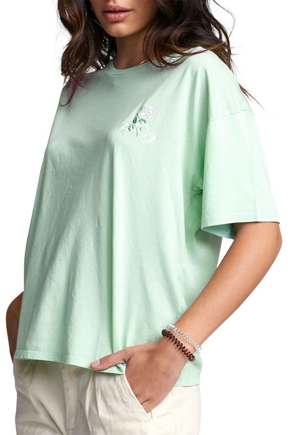 T-Shirt RVCA PETITE ROSE TEE Mint