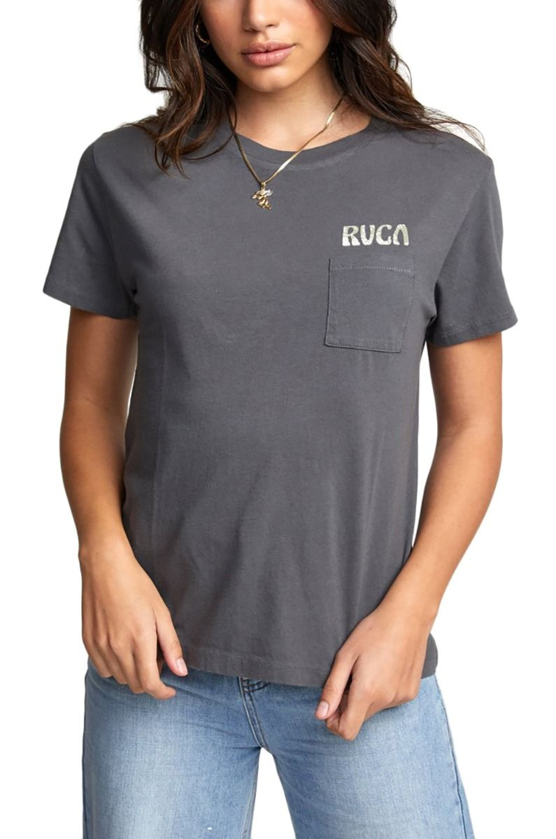 RVCA T-Shirt TOURIST TRAP TEE Gunmetal