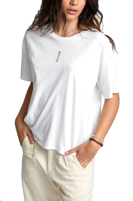 RVCA T-Shirt GOOD VS. EVIL TEE LIA KANTROWITZ Vintage White