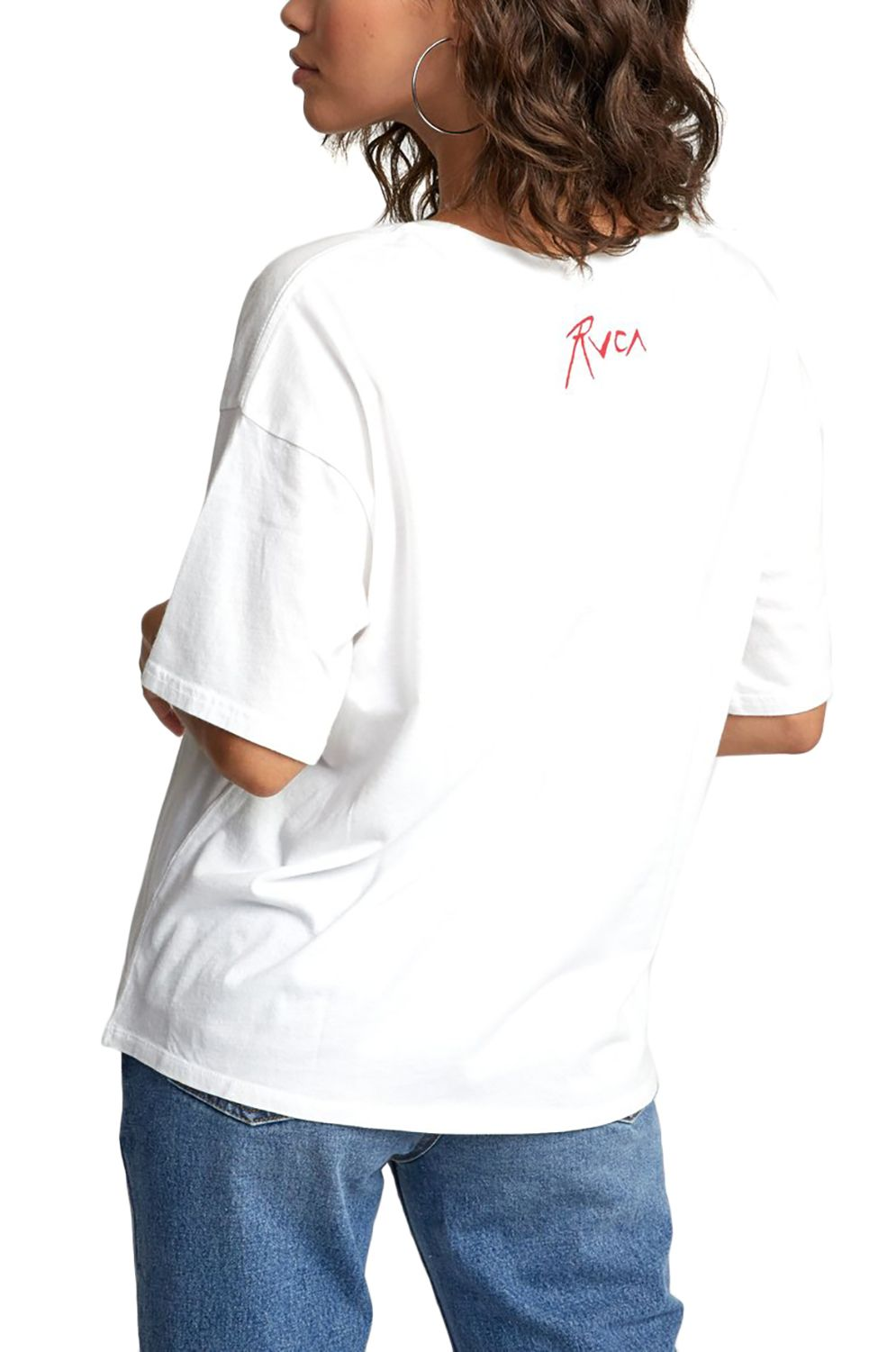 T-Shirt RVCA THE GORGEOUS HUSSY STACEY ROZICH Antique White