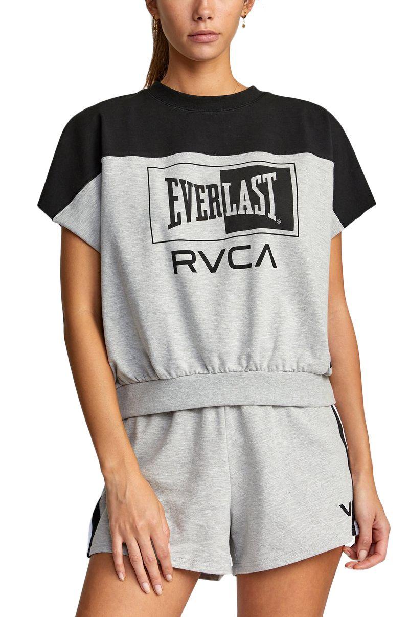 RVCA Top EVERLAST DOLMAN TOP Heather Grey