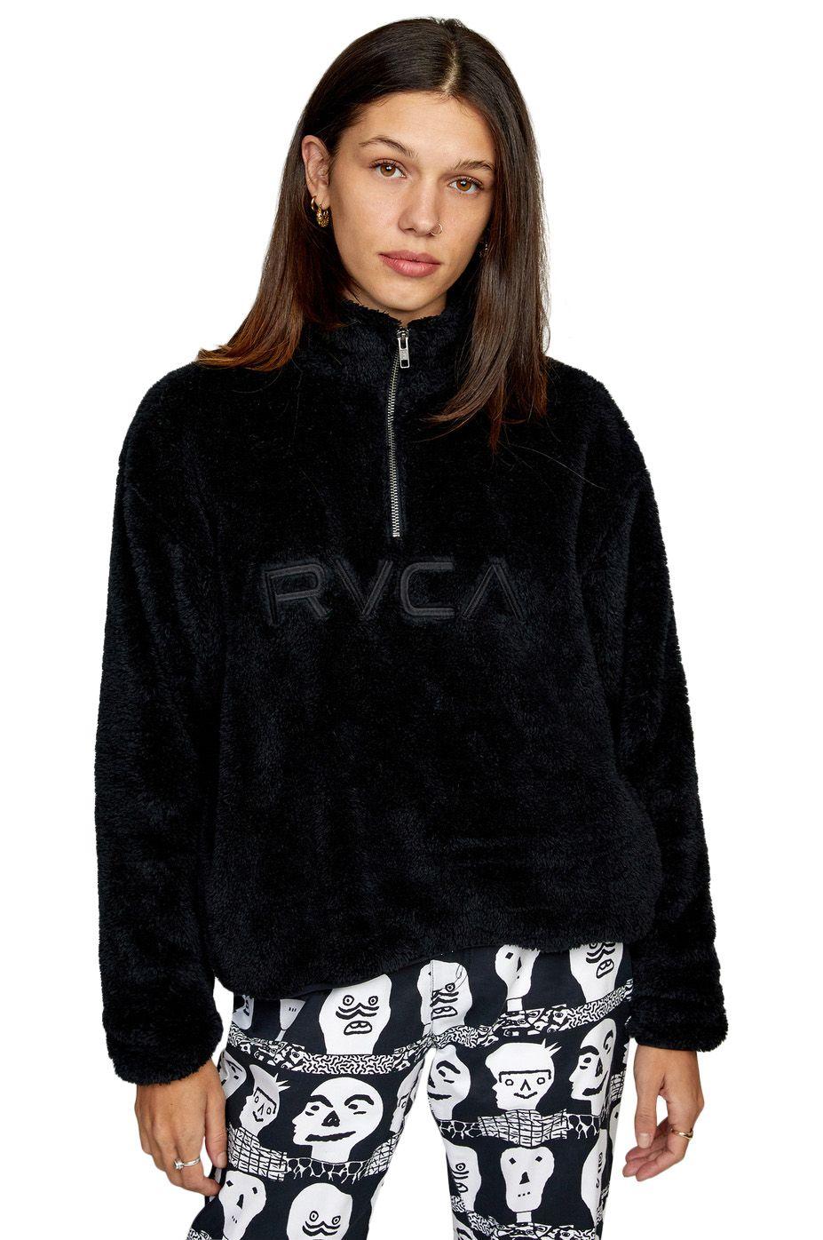 Sweat Polar RVCA RELAXED RVCA FLEECE True Black
