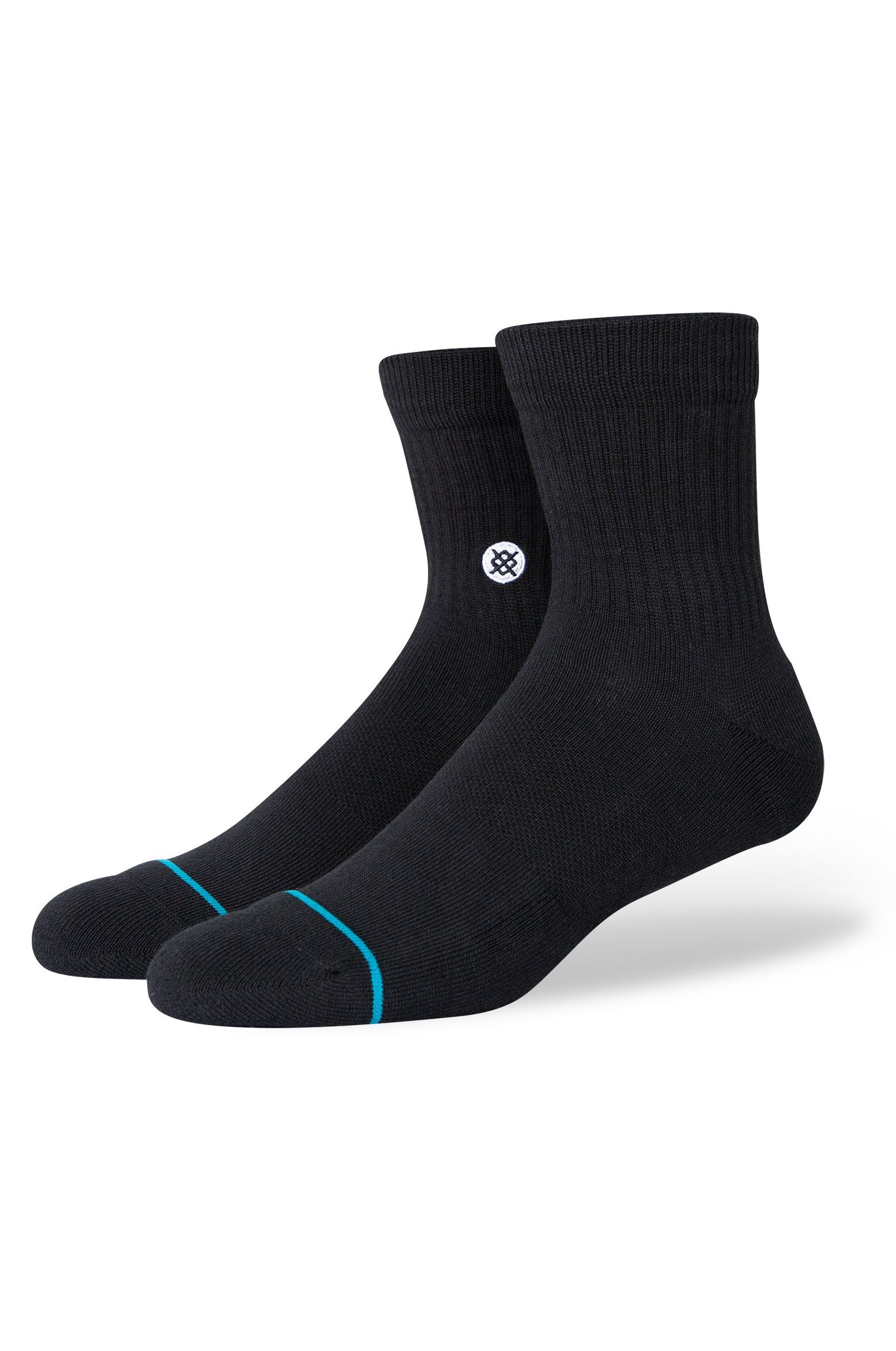 Stance Socks ICON QUARTER Black